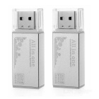 Multifunctional Card Reader w/ TF Micro SD Card Slots - Silver (2PCS)
