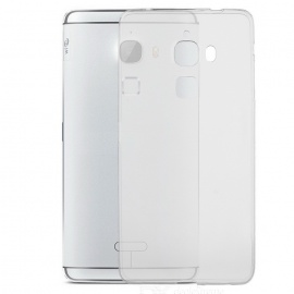 Silicone Back Case + Screen Film Set for LeTV MAX X900 - Transparent