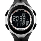 SKMEI 50m Waterproof Environmental Temperature Display Function Sports Watches - Black + Silver