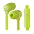 MOGCO M5 Universal High Quality 3.5mm In-Ear Earphones w/ Mic. - Green