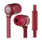 MOGCO M5 Universal High Quality 3.5mm In-Ear Earphones w/ Mic. - Purplish Red