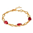 Xinguang Splicing Pear Shaped Crystal Bracelet for Women - Gold