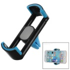 Car Air Outlet Mount Phone Holder for Samsung / IPHONE + More - Black + Dark Blue