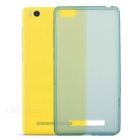 Protective TPU Back Case w/ Screen Protector for Xiaomi 4C - Translucent Blue