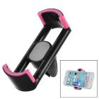 Universal 360' Rotating Car Air Conditioner Outlet Mount Phone Holder Stand - Black + Dark Pink