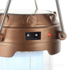 Portable 3W 6-LED White Light Solar Lantern - Brown