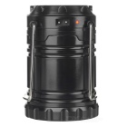 Portable 3W 6-LED White Light Solar Lantern - Black