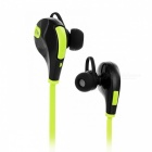 Q7 Sports Bluetooth Auriculares In-Ear con micrófono - Verde Hierba + Negro