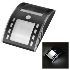 LED Solar Powered Induction Wall Lamp - Black + White