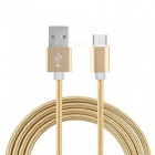 Cwxuan USB 3.1 Type C to USB 2.0 Braided Data Charging Cable - Golden