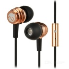 MOGCO M8 Universal High Quality In-ear Earphones w/ Mic. - Gold