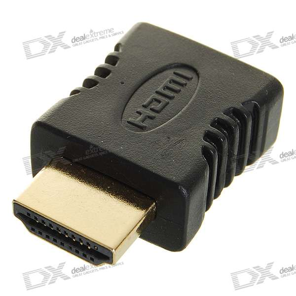 Gold Plated HDMI Male to HDMI Female Adapter/Converter gold plated right angle hdmi male to female adapter converter