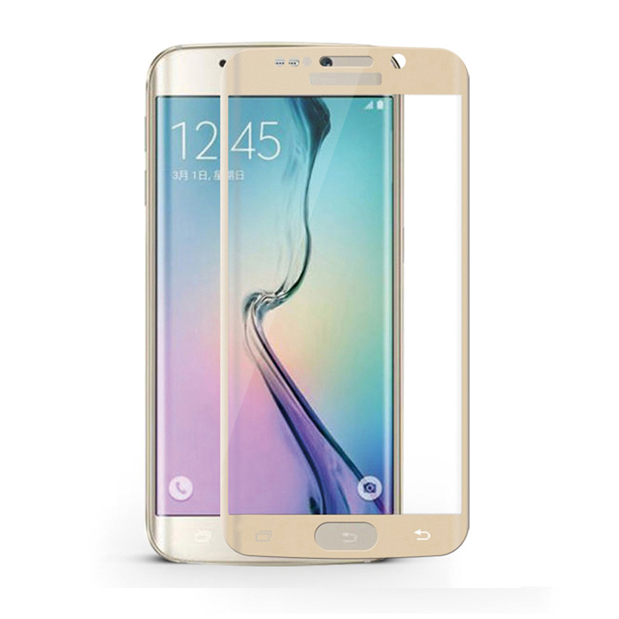 3D Anti-Explosion Full Cover Film for Samsung S6 Edge Plus - Golden