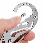 EDCGEAR Outdoor Multi-Function Carabiner Keychain Multitool - Silver