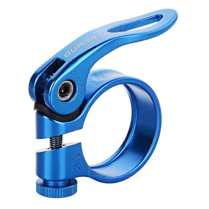 QUARRY KC88 34.9mm Bike Quick Release Seat Post Seatpost Clamp - Blue