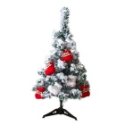 60cm Flocking Snowflake Christmas Tree + Tripods + Boots Set - White