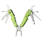 JAKEMY PJ-1003 Mini Multifunctional Pliers - Green + Silver