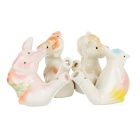 Cuckoo + Rabbit + Sheep Style Ceramic Whistle Set - Multicolored
