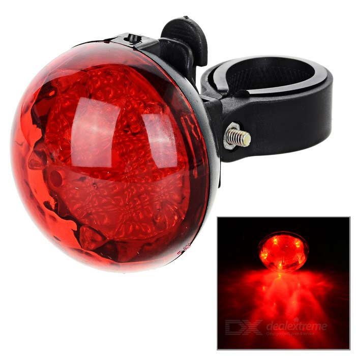 Seat Post Mount 3-Mode 5-LED Red Light Bike Taillight - Red