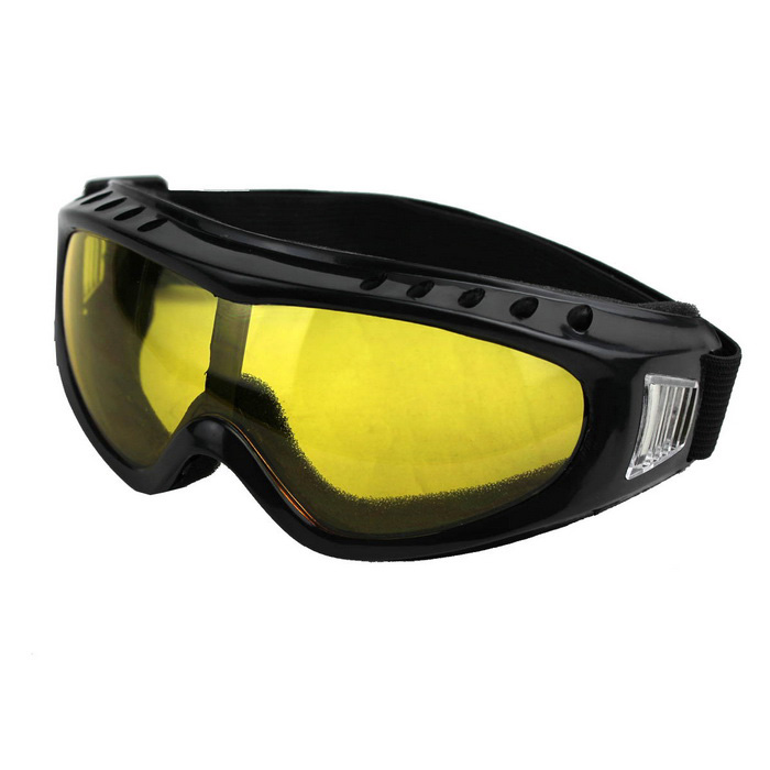 Outdoor Cycling Windproof PVC Lens Goggles - Yellow + Multicolor