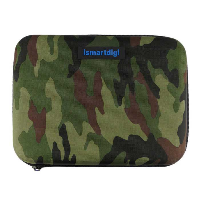 ismartdigi M Box Case for Gopro Hero 4 /2 /3 /3+ /4 - GreenBags &amp; Cases<br>Form  ColorCamouflage GreenQuantity1 DX.PCM.Model.AttributeModel.UnitMaterialNylon + CottonShade Of ColorMulti-colorCompatible ModelsGoPro Hero 1,GoPro Hero 2,GoPro Hero 3,GoPro Hero 3+,GoPro Hero 4Water ResistantFor daily wear. Suitable for everyday use. Wearable while water is being splashed but not under any pressure.SizeMDimension21.5x16.5x6.5 DX.PCM.Model.AttributeModel.UnitInner Dimension20.5x15.5x4.5cmPacking List1 x M Box<br>