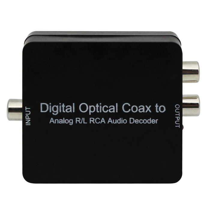 AC3 / DTS / Dolby toslink digital coaxial a decodificador de audio analógico - negro
