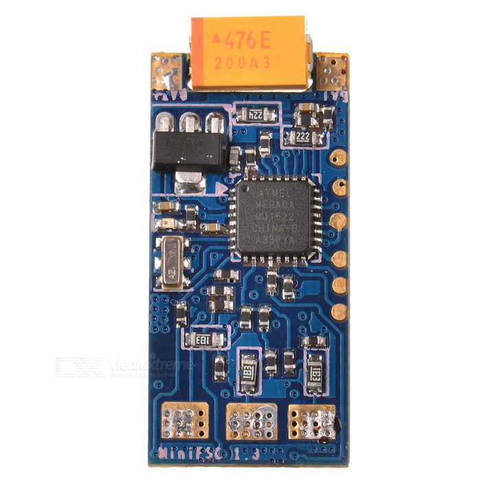 4-in-1 Firmware Speed Controller ESC for QAV250 Quadcopter - BlueOther Accessories for R/C Toys<br>Form  ColorBlue + Black + Multi-ColoredMaterialPCBQuantity1 DX.PCM.Model.AttributeModel.UnitCompatible ModelFor 250 / 280 / 400 quadcopterOther FeaturesDimension: 27 x 12 x 5mmPacking List1 x ESC5 x Wires (15+/-2cm)1 x Connecting wire (26+/-2cm)<br>