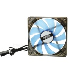 MAIKOU 12cm Computer Cooling Fan w/ Blue Light LED - Black + Blue
