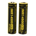 14500 650mAh 6.5A 3.7V 2.40Wh IMR Battery - Black and Yellow (2pcs) - Batteries Electrical and Tools