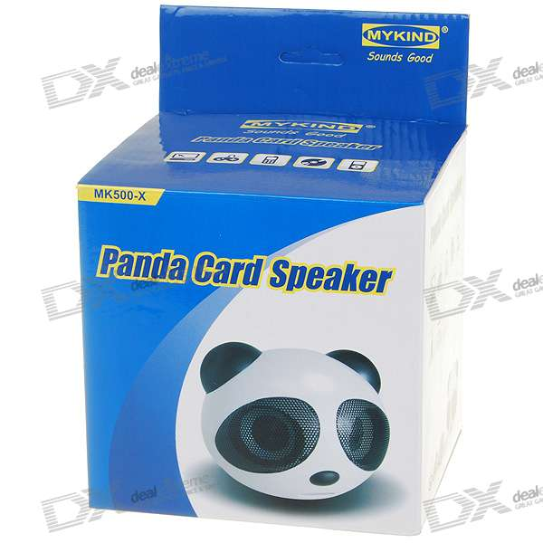 Cute Panda Shaped USB Rechargeable MP3 Music Speaker (SD/USB)