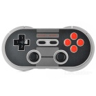 8Bitdo NES30 PRO Wireless Controller Bluetooth Gamepad para IOS e Android e PC - Preto + Cinza