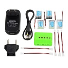 JJRC Battery + X5 Charger + Converting Cable Set for JJRC: H20 - Green