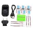 JJRC Battery + X6 Charger + Converting Cable Set for JJRC: H20 - Green