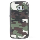 Protective Back Case for Samsung Galaxy S6 Edge -Army Green Camouflage