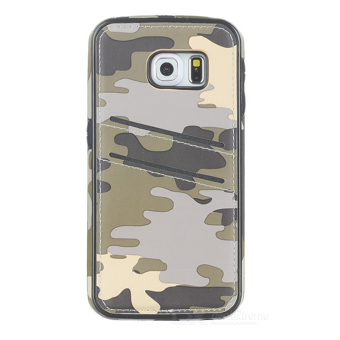 Protective Back Case for Samsung Galaxy S6 Edge - Camouflage Grey
