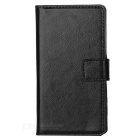 Protective Flip-Open PU Leather Full Body Case w/ Stand & Card Slots for Sony Xperia Z5 Mini - Black
