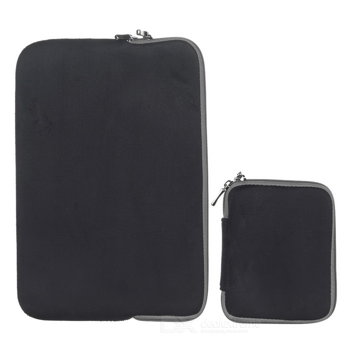 Protective PU Laptop Sleeves Bag for MACBOOK AIR PRO - Black