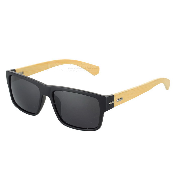 UV 400 Protection Anti-Slip Composite Frame Sunglasses - Black