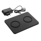 1 to 2 Anti-Slip High Power Qi Standard Wireless Charging Pad - Black
