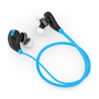 Outdoor Sports Bluetooth V4.0 In-Ear Earphone w/ Mic - Black + Blue