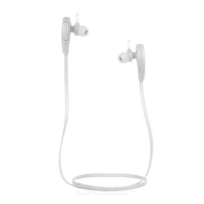 Outdoor Sports Bluetooth V4.0 In-Ear Earphone w/ Mic - White