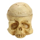 Creative Porous Skull Style Tattoo Pigment Ink Cups Holder Stand - Beige