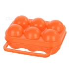 Folding 6 Eggs Container Holder Storage Box Case for Picnic - Orange