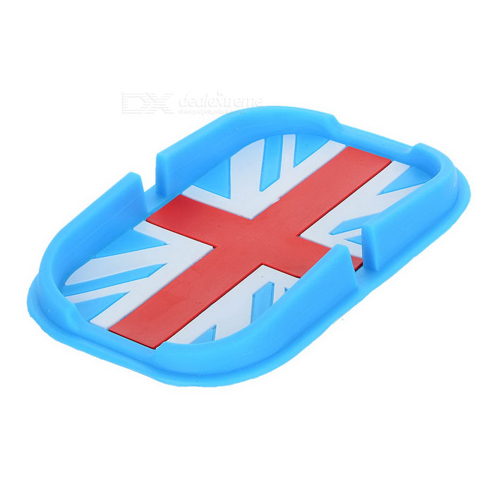 UK Flag Pattern Car Anti-Slip Mat Pad - Blue + Red + Multi-Color