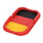 Germany Flag Pattern Car Anti-Slip Mat Pad - Red + Yellow + Black