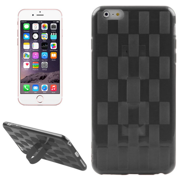 Hat-Prince Woven Pattern Protective TPU Case for IPHONE 6/6S - Black