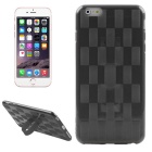 Hat-Prince Woven Pattern Protective TPU Soft Case w/ Stand for IPHONE 6 / 6S - Black