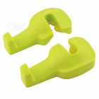 Universal Car Vehicle Headrest Pole Mounted Hook - Light Green (2PCS)