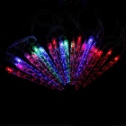 3W 20-LED RGB icicle pequena luz corda decorativa - transparente (4m)