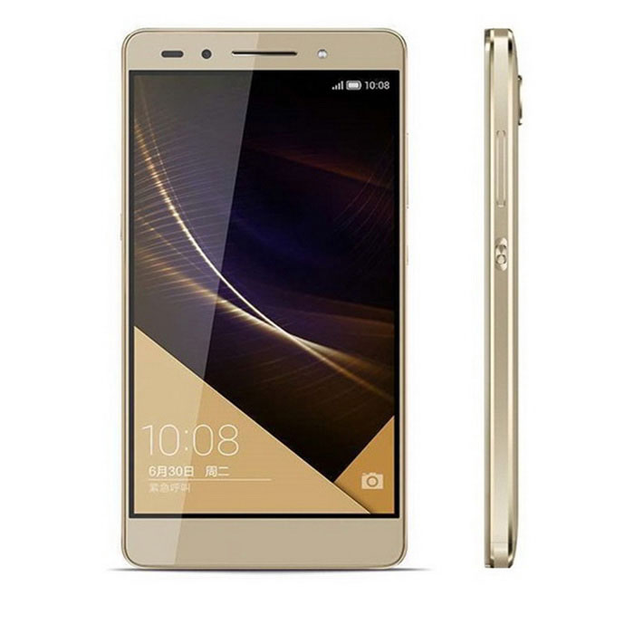 Huawei Honor 7 (PLK-AL10) 4G Phone w/ 3GB RAM, 64GB ROM - GoldAndroid Phones<br>Form  ColorGoldenRAM3GBROM64GBBrandHUAWEIModelHonor 7PLK-AL10))Quantity1 DX.PCM.Model.AttributeModel.UnitMaterialMetalShade Of ColorGoldTypeBrand NewPower AdapterUS PlugNetwork Type2G,3G,4GBand Details2G: GSM 850/900/1800/1900 3GCDMA EVDO 800 3GWCDMA 850/900/1900/2100 3GTD-SCDMA B34/39 4GTD-LTE B38/39/40/41 4GFDD-LTE B3Data TransferGPRS,HSDPA,EDGE,LTENetwork ConversationOne-Party Conversation OnlyWLAN Others,WIFIIEEE 802.11 a/b/g/n/acSIM Card TypeNano SIMSIM Card Quantity2Network StandbyDual Network StandbyGPSYesNFCNoBluetooth VersionOthers,V4.1+LEOperating SystemOthers,EMUI 3.1 (Android OS 5.0)CPU ProcessorHuawei Hisilicon Kirin935 Octa-Core 1.5- 2.2 GHzCPU Core QuantityOcta-CoreLanguageBahasa Indonesia, Bahasa Melayu, Catala, Cestina, Dansk, Deutsch, Eesti, English, Spanish, French, FYROM, Harvatski, Italian, Latviesu, Lietuviu, Magyar, Nederlands, Norsk bokmal, Polski, Portuguese, Romana, Slovenscina, Srpski, Suomi, Svenska, Vietnamese, Turkish, Greek, Russian, Hebrew, Arabic, Persian, Thai, Korean, Simplified / Traditional Chinese, JapaneseGPUMali-T628 MP4Available MemoryN/AMemory CardYesMax. Expansion SupportedSupport Micro SD card up to 128GB extendedSize Range5.0~5.4 inchesTouch Screen TypeCapacitive ScreenScreen Resolution1920*1080Screen Size ( inches)Others,5.2Camera PixelOthers,20MPFront Camera Pixels8.0 DX.PCM.Model.AttributeModel.UnitVideo Recording Resolution1080p 1920 x 1080 30fpsFlashYesTouch FocusYesTalk Time960-1380 DX.PCM.Model.AttributeModel.UnitStandby Time411-460 DX.PCM.Model.AttributeModel.UnitBattery Capacity3100 DX.PCM.Model.AttributeModel.UnitBattery ModeNon-removablefeaturesWi-Fi,GPS,FM,Bluetooth,NFC,OTGSensorG-sensor,Proximity,Compass,Accelerometer,Others,Light sensor, gyroscope sensors, rotation vector sensorWaterproof LevelIPX0 (Not Protected)Shock-proofNoI/O Interface3.5mm,SIM SlotUSBMicro USB v2.0SoftwarePlay Store, Themes, Camera, Music, Video, Email, Calendar, Vmall, FM, RecorderFormat SupportedPicture format: JPEG, GIF, BMP, PNG; Music format: MP3, WAV, AAC; Video format: 3GP, AVI, MP4JAVAYesTV TunerNoRadio TunerFMPacking List1 x Cell phone1 x Data cable (100±2cm)1 x Charger (US plug / 100~240V)<br>